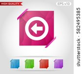 colored icon or button of back... | Shutterstock .eps vector #582495385