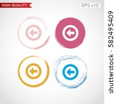 colored icon or button of back... | Shutterstock .eps vector #582495409