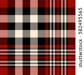 seamless tartan plaid pattern.... | Shutterstock .eps vector #582495565