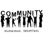 community concept with people... | Shutterstock .eps vector #582497641