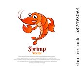 character shrimp vector.... | Shutterstock .eps vector #582498064