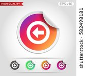 colored icon or button of back... | Shutterstock .eps vector #582498181