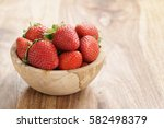Fresh Strawberries In Bowl On...