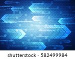 digital abstract technology... | Shutterstock . vector #582499984