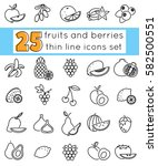 outline icon set fruits and... | Shutterstock .eps vector #582500551