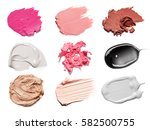 smears of different colors are... | Shutterstock . vector #582500755