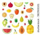 fruit flat style big vector... | Shutterstock .eps vector #582503101