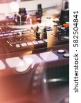 abstract dj equipment double... | Shutterstock . vector #582504841