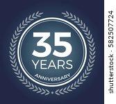 35 years anniversary badge ...   Shutterstock .eps vector #582507724