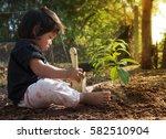 plan saving concept  kid...   Shutterstock . vector #582510904