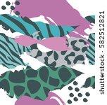 trendy seamless exotic pattern... | Shutterstock .eps vector #582512821