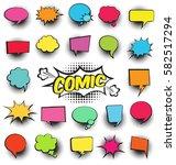 big set of cartoon comic speech ...   Shutterstock .eps vector #582517294