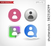 colored icon or button of user... | Shutterstock .eps vector #582518299