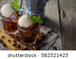 Ice Coffee With Vanilla Ice...