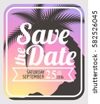 save the date card. save the... | Shutterstock .eps vector #582526045