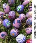 easter background. easter eggs... | Shutterstock . vector #582528289