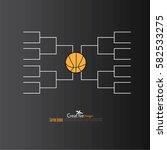 a blank college basketball... | Shutterstock .eps vector #582533275
