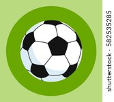 Soccer Ball Icon. White Black...
