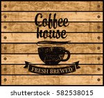 banner with the logo of the... | Shutterstock .eps vector #582538015