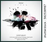 big party. dancing people   Shutterstock .eps vector #582538987