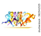 run people illustration | Shutterstock .eps vector #582541525