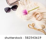 woman clothes accessories... | Shutterstock . vector #582543619