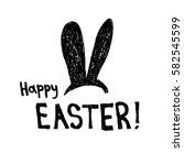 easter bunny  happy easter ... | Shutterstock .eps vector #582545599
