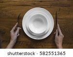 healthy food theme  hands... | Shutterstock . vector #582551365