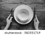healthy food theme  hands... | Shutterstock . vector #582551719