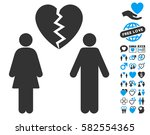 family divorce pictograph with... | Shutterstock .eps vector #582554365