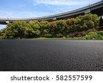empty road floor surface with... | Shutterstock . vector #582557599