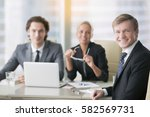 business people  smiling ... | Shutterstock . vector #582569731