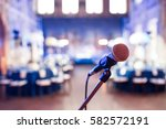 microphone over the abstract... | Shutterstock . vector #582572191