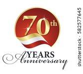 anniversary 70 th years... | Shutterstock .eps vector #582577645
