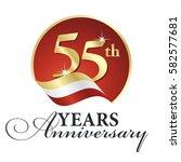 anniversary 55 th years... | Shutterstock .eps vector #582577681