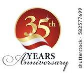 anniversary 35 th years... | Shutterstock .eps vector #582577699
