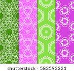 seamless set floral pattern....   Shutterstock .eps vector #582592321