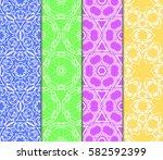 seamless set floral pattern....   Shutterstock .eps vector #582592399