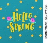 vector trendy hand lettering...   Shutterstock .eps vector #582595951