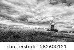 norfolk wind pump   Shutterstock . vector #582600121