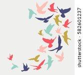 birds silhouette vector... | Shutterstock .eps vector #582601237