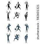 vector illustration of a six... | Shutterstock .eps vector #582601321