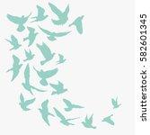 birds silhouette vector... | Shutterstock .eps vector #582601345