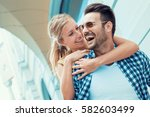 image of a happy laughing... | Shutterstock . vector #582603499