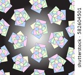 the pattern of geometric shapes. | Shutterstock .eps vector #582604501