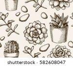 cactus seamless pattern.... | Shutterstock .eps vector #582608047