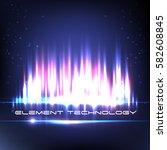 digital equalizer. vector... | Shutterstock .eps vector #582608845