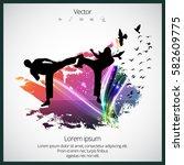 karate warrior | Shutterstock .eps vector #582609775