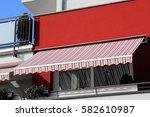 new balcony awning | Shutterstock . vector #582610987