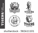 tigers   logo  icon ... | Shutterstock .eps vector #582611101